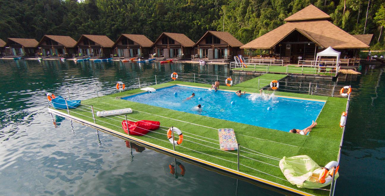 piscine flottante extérieure